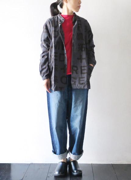 BRU NA BOINNEのシャツのモデル着用画像