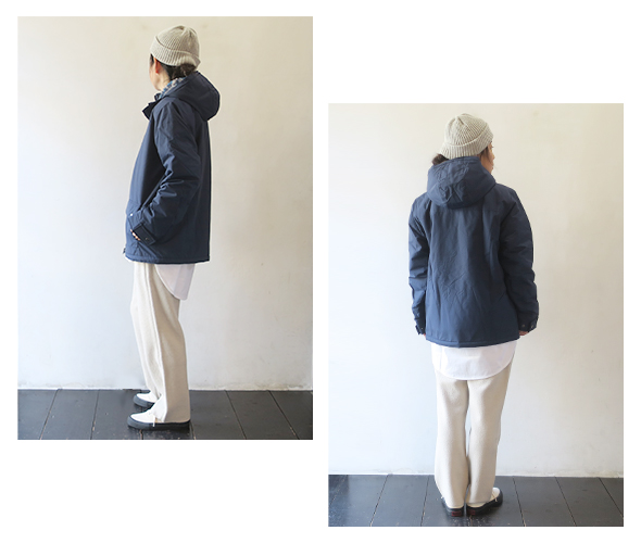 patagoniaのジャケットのモデル着用画像
