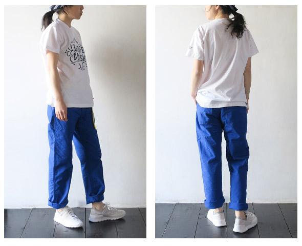Engineered GarmentsのTシャツのモデル着用画像
