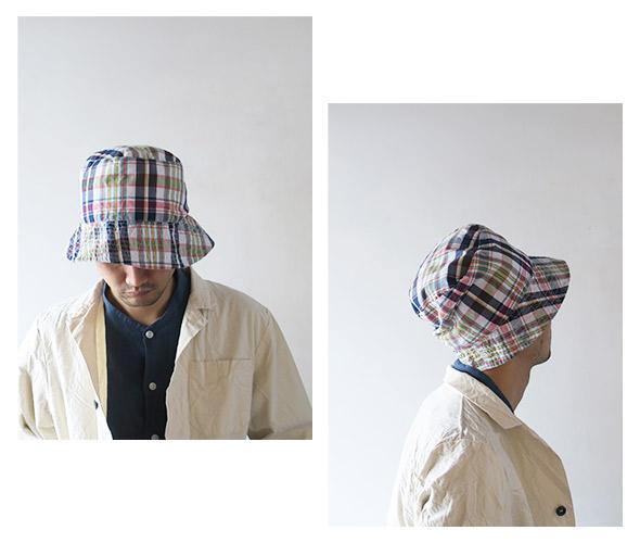 Engineered Garmentsのハットのモデル着用画像