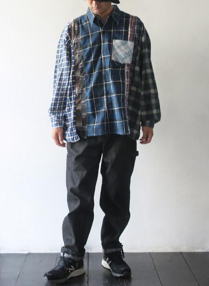 REBUILD by Needles リビルドバイニードルズ Flannel Shirt ->7 Cuts Wide Shirt フランネルシャツ