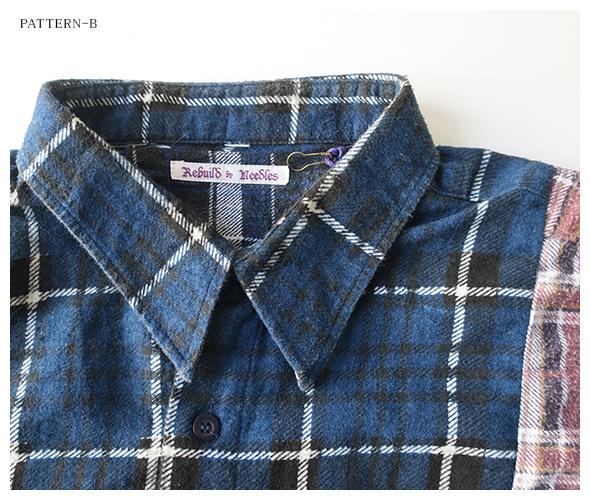 REBUILD by Needles(リビルドバイニードルズ) フランネルシャツ hm301の商品ページです。