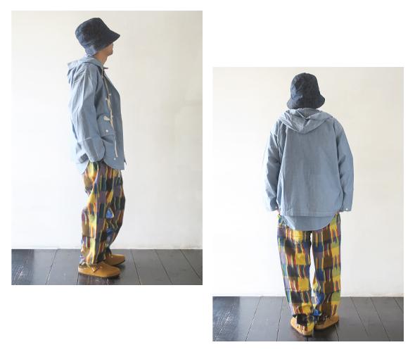 Engineered Garments Drawstring Pant - Cotton Ikat エンジニアドガーメンツ ドローストリングパンツ