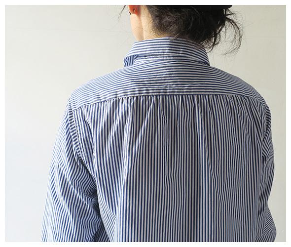 Engineered Garments エンジニアドガーメンツ Rounded Collar Shirt - Medium Stripe Broadcloth ラウンデッドカラーシャツ