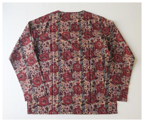 South2 West8 Henley Neck Shirt- Batik Over Print サウス2ウエスト8 ヘンリーネックシャツ