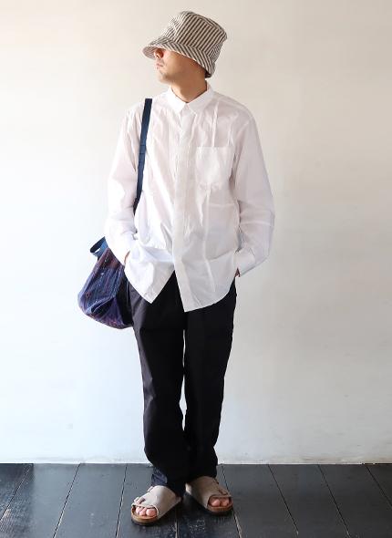 Engineered Garments - Combo Short Callar Shirt - 100s 2Ply Broad エンジニアドガーメンツ コンボショートカラーシャツ