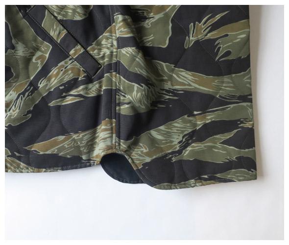 SASSAFRAS ササフラス Blower Bud Vest - Tiger (60/40 Quilted) ブローワーバドベスト
