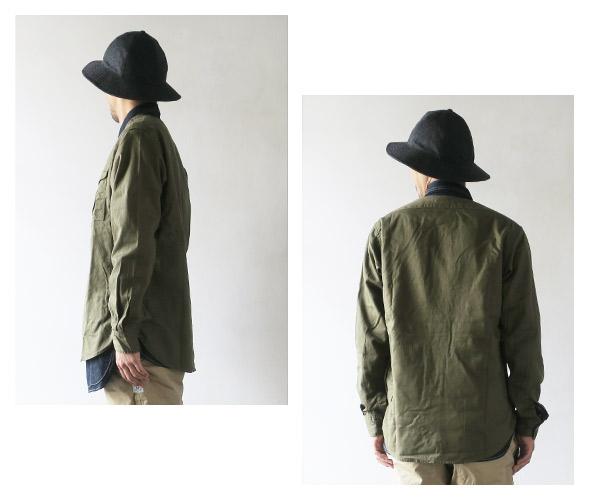 SASSAFRASのシャツのモデル着用画像